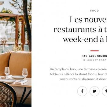 Les nouveaux restaurants à tester ce week-end à Paris